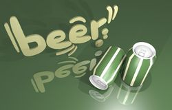Tin beer Stock Photography