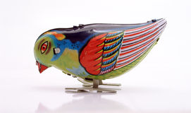 tin blåa picka serier för fågel toyen Royaltyfri Fotografi