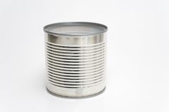 Tin Can. On a white background Stock Photo