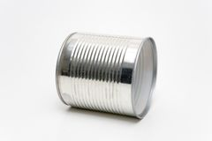 Tin Can. On a white background Stock Image