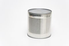 Tin Can. On a white background Royalty Free Stock Image
