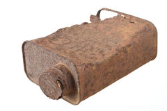 Tin can. Old  rusty tin can pollution Stock Photo