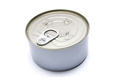 Tin can. Sealed, with no label Stock Photo