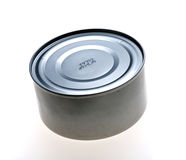 Tin can. Generic tin can isolated, with vignette Stock Photos