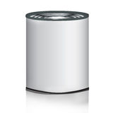 Tin can. The illustration of a tin can Royalty Free Stock Image