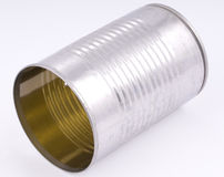 Tin can. An isolated shot of an empty tin can Royalty Free Stock Photography