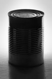 Tin Can. A monochrome shot of a tin can royalty free stock photography