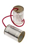 Tin can as a symbol Photo Royalty Free Stock Images