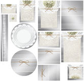 Tin Can and Babies Breath Invitation Set Stock Image