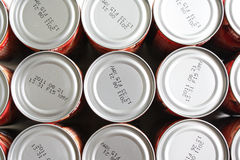 Tin Can Background Royalty Free Stock Photos