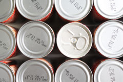 Tin Can Background Stock Photo