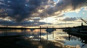 Tin Can Bay Sunset Immagine Stock Libera da Diritti