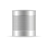 Tin Can com nervuras Modelo de empacotamento do vetor para seu projeto Foto de Stock