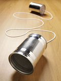Tin Can Communication stock afbeelding