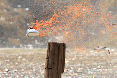 Tin can exploding Royalty Free Stock Images