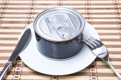 Tin can food Royalty Free Stock Photography