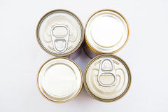 Tin can food with easy open Stock Photography