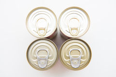 Tin can food with easy open Stock Photo