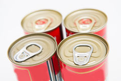 Tin can food with easy open Stock Photos