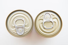 Tin can food with easy open Royalty Free Stock Photography