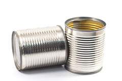 Tin can. Food on white background Royalty Free Stock Photography