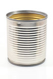 Tin can. Food on white background Royalty Free Stock Image