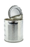 Tin can for food on white background Royalty Free Stock Photo