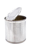 Tin can for food on white background Royalty Free Stock Photography