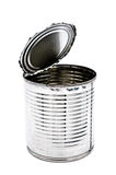Tin can for food on white background Royalty Free Stock Image
