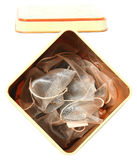 Tin Can with Fresh Gourmet Teas Stock Photo