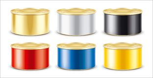 Tin Can. Gold version. Without ring stock photography