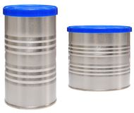 Tin can. Isolated stock photography