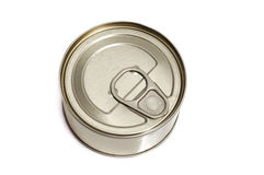 Tin can isolated on white background Royalty Free Stock Image