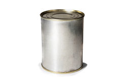 Tin can. Isolated on white background Royalty Free Stock Images