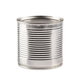 Tin can isolated on white Royalty Free Stock Photography