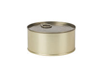 Tin can isolated on white Stock Images