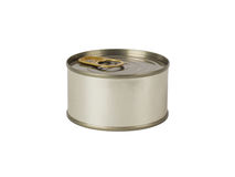 Tin can isolated on white Stock Image