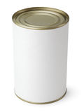 Tin Can isolated on white Royalty Free Stock Photos