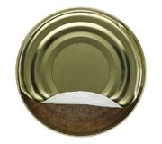 Tin can with Kochwurst Royalty Free Stock Images