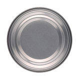 Tin Can Lid Base. Lid or Base of Food Tin Can Isolated on White Background Royalty Free Stock Photos