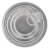 Tin Can Lid, Food Preserve Ringpull Canister Sealed Top, Isolated Royalty Free Stock Image
