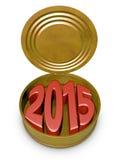 Tin can 2015 Royalty Free Stock Photos