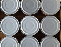 Tin can without opener Stock Photos