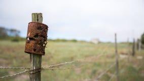 Tin Can oxidado usado para a prática de alvo Imagem de Stock Royalty Free