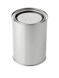 Tin can with paint. Isolated on white background Stock Photography