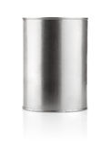 Tin can with paint. On white background Stock Photography
