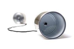Tin can phone Stock Images