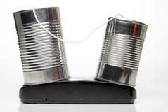 Tin Can Phone Royalty Free Stock Photos