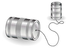 Tin can phone Stock Images