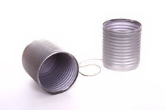 Tin can phone Stock Image